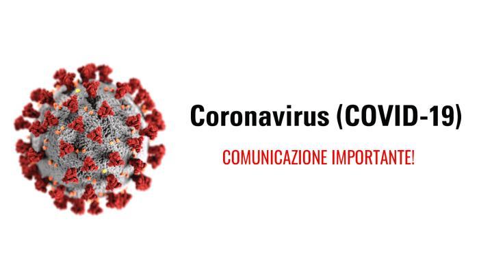 Covid-19: comunicazione importante!
